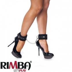 Black ancle cuffs with carabine hooks - Ri-7957