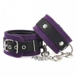 Purple ancle cuffs with carabine hooks - ri-7947