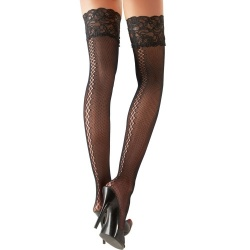 fishnet Stay-ups by Cottelli Collection - or-2520311