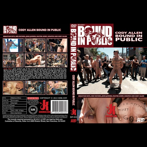 Bound in Public 33 - Cody Allen - Naked, Tied up, Zippered, Humiliated in Public - KINK-BIP-033