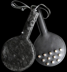Round Leather Paddle with Fleece - os-roundpaddle