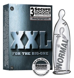 Secura XXL Condom - 3, 12, 14 or 100 pcs - or-0415367