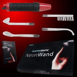 ElectroSex NeonWand with black/red grip and 230 volt - 10 watt  - str-670000030702