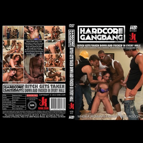 Hardcore Gangbang 12 - Bitch gets taken down and fucked in every hole - KINK-HGB-012