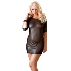 Black transparent mini dress sizes S > XL - or-2713632