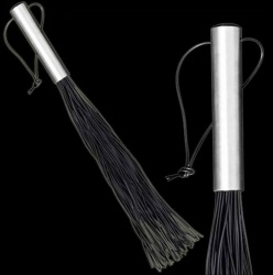 Heavy Latex whip with Stainless Steel handle with 80 treads - os-0145-3-80