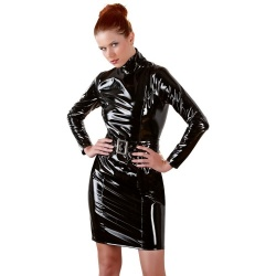 Vinyl Dress with Belt sizes S > XL - or-2850486
