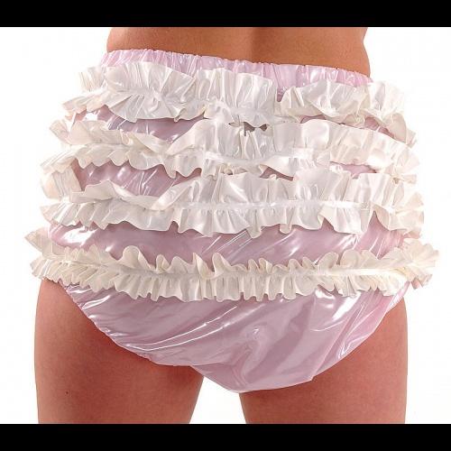 (X-Large) PVC AB Frilly Pants - PUL-PA14
