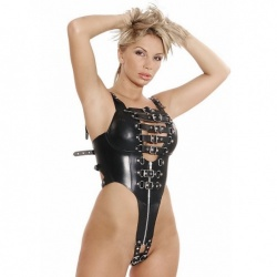 Leather Body Harness 5274 - le-5274-blk