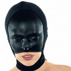 Black Leather Mask 5154 - le-5154-blk