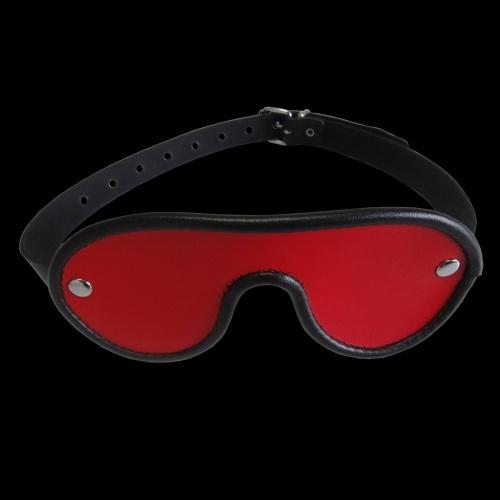 Leather Blindfold with adjustable belt - os-0327