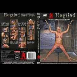 Hogtied 59 - Hot blonde and blue eyed bitch with big natural breasts begs to cum! - KINK-HT-059