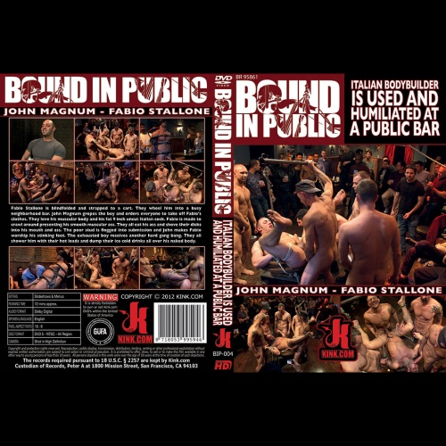 Bound in Public 4 - Italian Bodybuilder is used and humiliated at a public bar - KINK-BIP-004