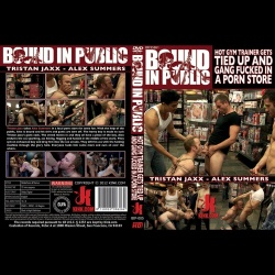 Bound in Public 5 - Hot gym trainer gets tied up and gang fucked in a porn store - KINK-BIP-005