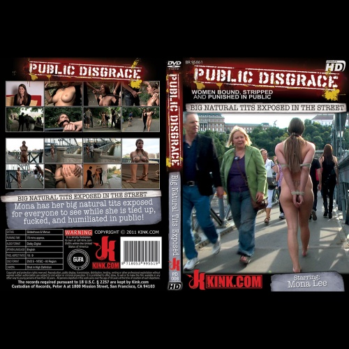 Public Disgrace 8 - Big Natural Tits exposed in the street - KINK-PD-008