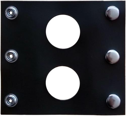 Lederen dubbele dildo-Buttplug Adapter - OS-PA-02