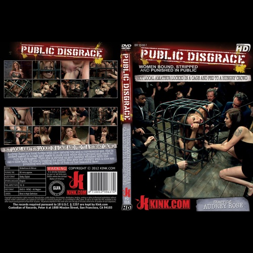 Public Disgrace 16 - Hot Local Amateur Locked in a Cage and Fed to a Hungry Crowd - KINK-PD-016