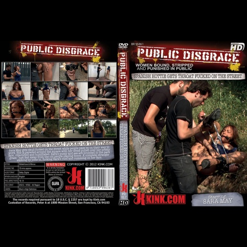 Public Disgrace 17 - Spanish Hottie gets Throat Fucked on the Street Bound in front of a busy cafe! - KINK-PD-017