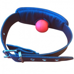 Soft Leather Gag with detachable Silicon Ball - os-mi14