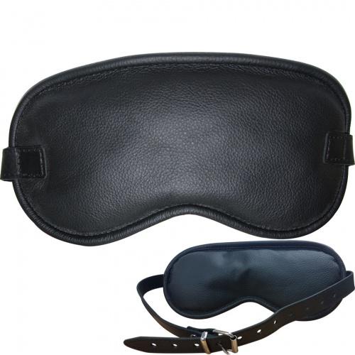 Padded Leather Blindfold - os-0345