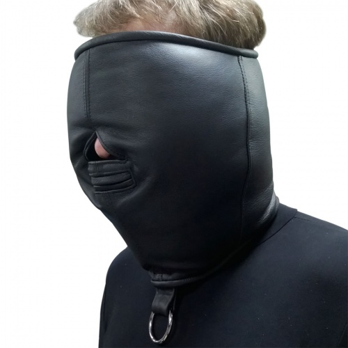 Leather Blindfold Isolation Mask - Os-0374