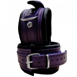 Saxos Luxury Narrow Purple padded Anklecuffs - Os-0100-3P