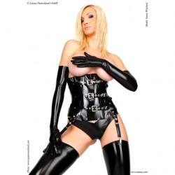 Latex Corset without Cups by Latexa - la-1224