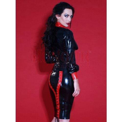 Latex Rubber Meesteres Rokje maat X-Large - HR-SR1104-XL