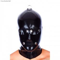 Latex Herren System-Maske mit RV und D-Ring von Latexa - la-3325