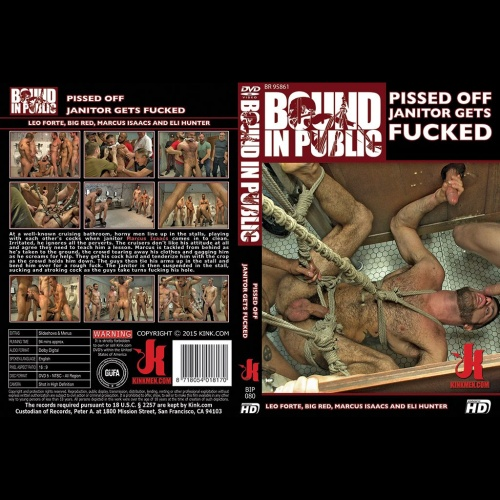 Bound in Public 80 - Pissed off Janitor Gets Fucked - KINK-BIP-080