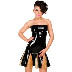 Latex strapless Dress with zipper size X-Large - AB4798Z-XL