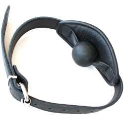 Padded Leather Gag with Silicon Ball - Os-0379-S
