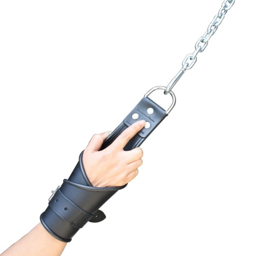 leather bondage hanging Hand Restraints - Os-LBHHR