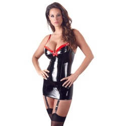 PVC-Dress with Suspenders - or-2851113