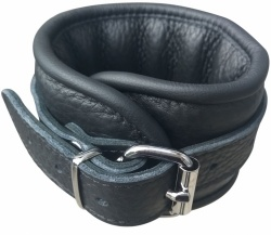 Structure Leather Feetcuffs Black - Os-0102-3SSL