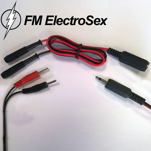 Electrosex verloopstekker 2,5mm female jack naar 2 mm stekkers - PB-25JF2