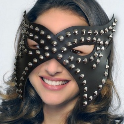 Leather Blindfold with Studs - os-0335