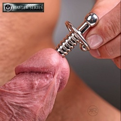 XL Ribbed Urethral Sound with Hollow Core - Xr-AE467