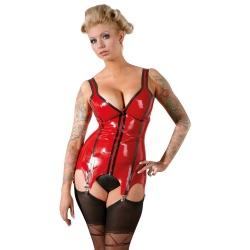 Red Latex Suspender Corsage sizes S > XXL - Or-2900378