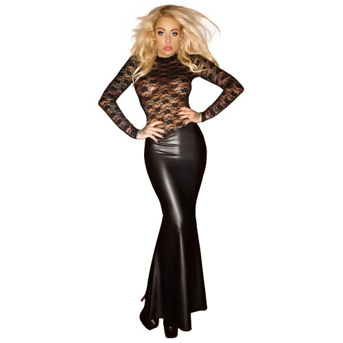 Wetlook Lace Dress sizes S > XXXL - Or-2714930