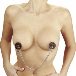 adjustable nipple Clamps with chain - ri-7703