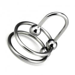 Double Head Ring with Sperm Stopper - bhs-202