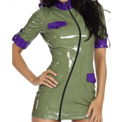 Sexy Military Datex Mini Dress - le-9226