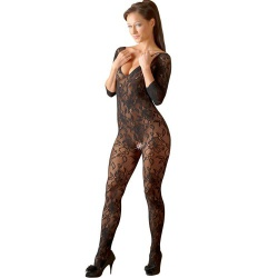 Kanten catsuit (S-L) met open kruis by NO:XQSE - or-25502881101