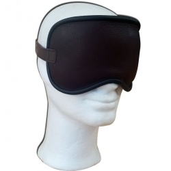 Brown Leather Blindfold with soft padding - os-bdbr