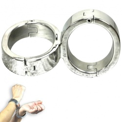 Stainless Steel Cross Fixed Bondage Handcuffs - bhs-229