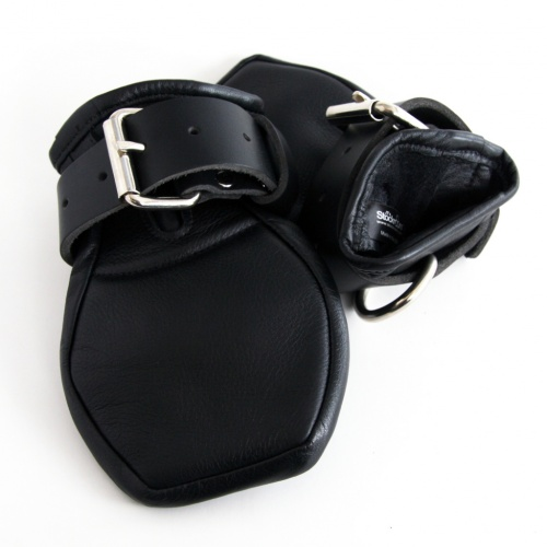 Deluxe Padded Fist Mitts Leather by Stockroom - SR-J308-Z