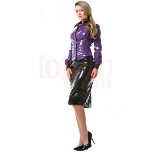 Vinyl Miss Education Shirt Purple size UK 16 - EU 44 - hr-H2125.PUR-UK16