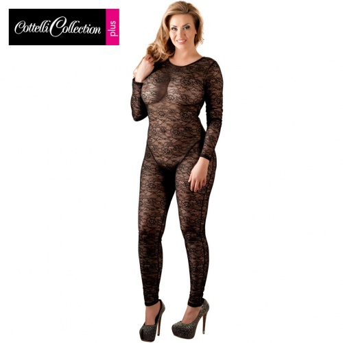 Kanten catsuit maten 3XL - 4XL - or-2730278