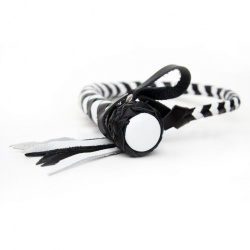 Russian Whip -  with flexible handle (black/white) - ru-a33bw